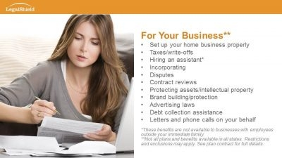 Legal Plan for Network Marketers