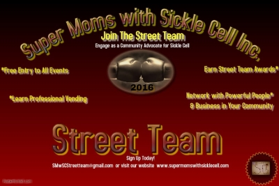 Super Moms with Sickle Cell Inc. Street Team